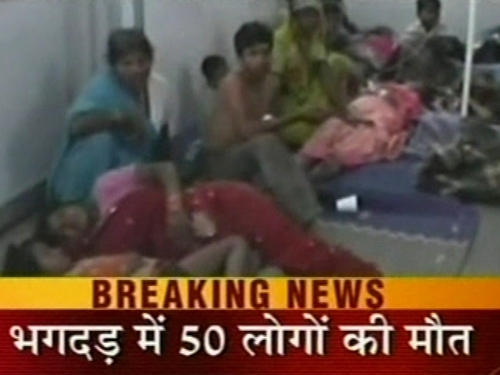 India - TV coverage of stampede