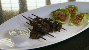 Neven Maguire's Sticky Beef Skewers