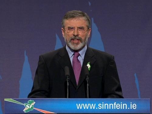 Gerry Adams - Televised address