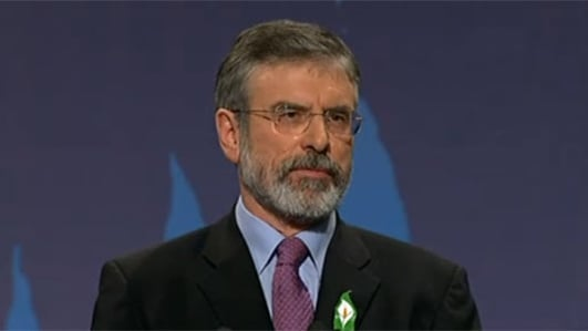 Gerry Adams speaks out on the Gaza crisis