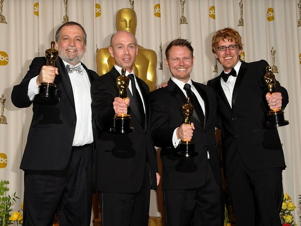Baneham (second right) - Dubliner and Avatar colleagues won Oscar for Best Visual Effects