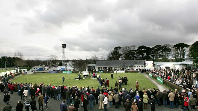 The parade ring at Naas