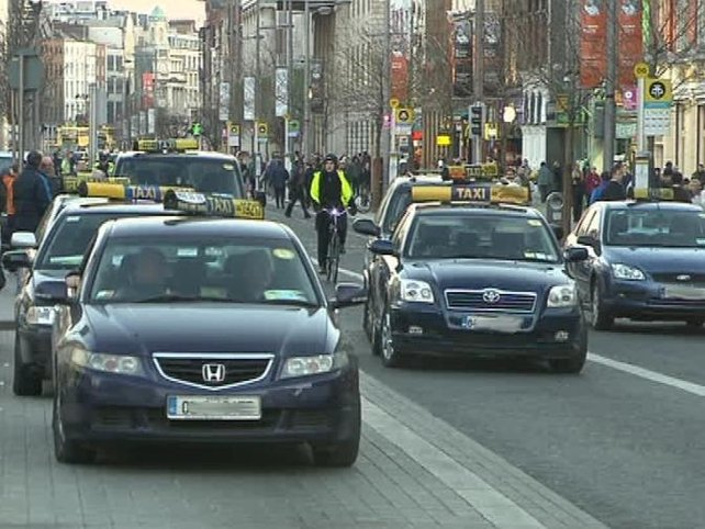 O'Connell Street - Taxi protest closed the street