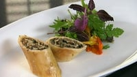 Wild Mushroom Strudel - This is a wonderful combination of soft mushrooms and crisp pastry.