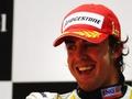 Fernando Alonso triumphant in Bahrain