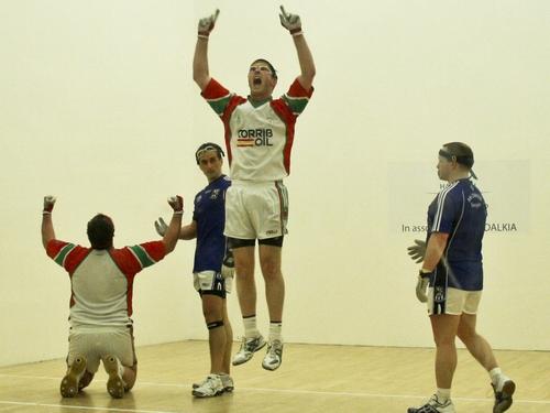 Dessie Keegan and Joe McCann following last year's victory