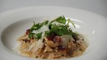 Wild Mushroom and Tarragon Risotto, Rocket and Parmesan Salad