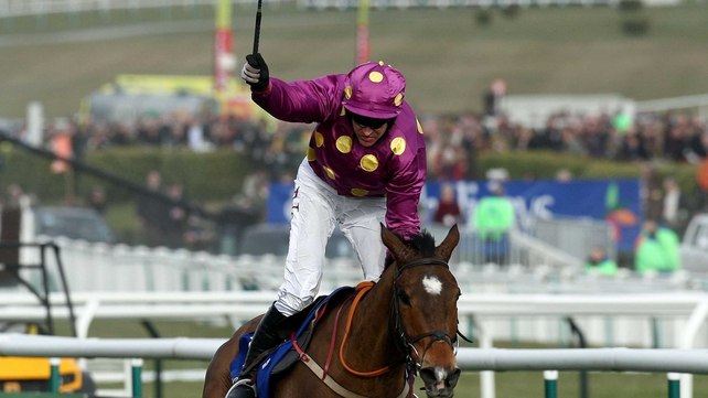 Big Zeb and Barry Geraghty winning at the Festival in 2010