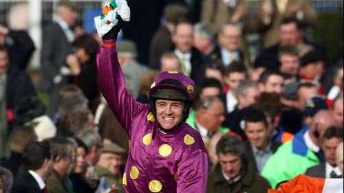 Barry Geraghty was met with usual roar of the Irish support after this Grade 1 victory on Big Zeb