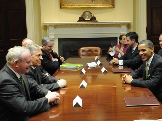 Washington - NI political leaders meet US President
