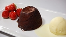 Chocolate Fondant with Tickety Moo Ice Cream - A delicious dessert from Tommy Bowe