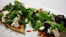 Pan-grilled Bruschetta with Onion Marmalade and Goat's Cheese