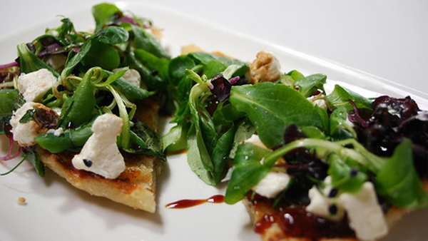 Pan-grilled Bruschetta with Onion Marmalade and Goat's Cheese: Tommy Bowe