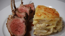 Connemara Rack of Lamb with Cauliflower and Potato Dauphinoise