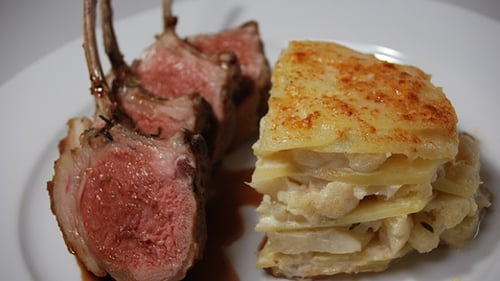 A traditional Lamb main from Tommy Bowe. Guaranteed to fill the hungriest of mouths.