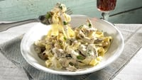Tagliatelle with Creamy Blue Cheese Sauce - One for a great night in.