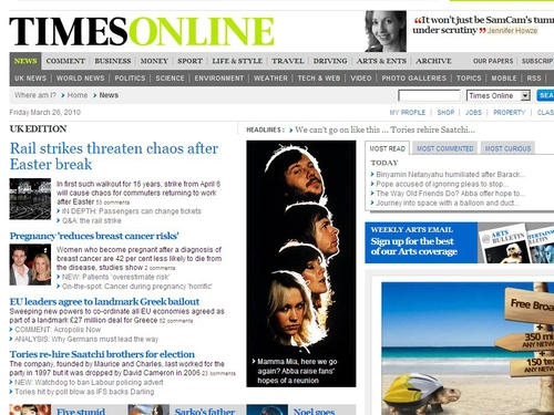 Times Online - New subscription website will replace the existing site