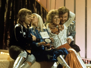 ABBA after the Eurovision win in 1974, with Björn Ulvaeus on the left