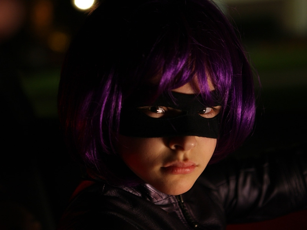 Moretz as vigilante Hit-Girl