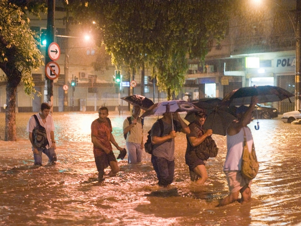 Brazil - Streets flooded in Rio de Janeiro