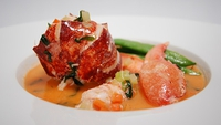 Lobster in Tarragon Sauce and Runner Beans - How about Lobster for a delicious main course?