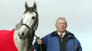 Oliver Brady with Ebadiyian, winner of the Grade Three Punchestown Juvenile Hurdle in January 2009
