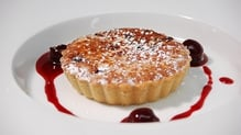 Hazelnut and Cherry Tart with Whipped Cream
