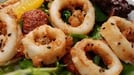 Crispy Calamari with Green Salad and a Citrus Dressing - A starter to get you thinking about holidays.
