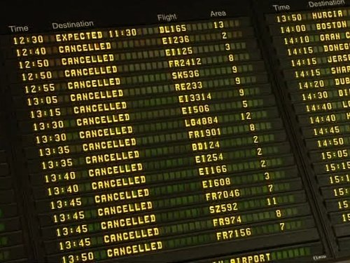Dublin Airport - All flights have been grounded since 12pm