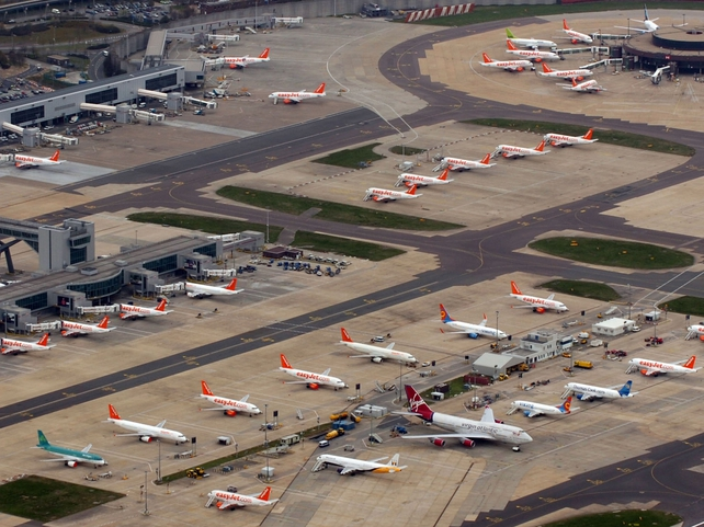 Stansted - Thousands of planes grounded across Europe