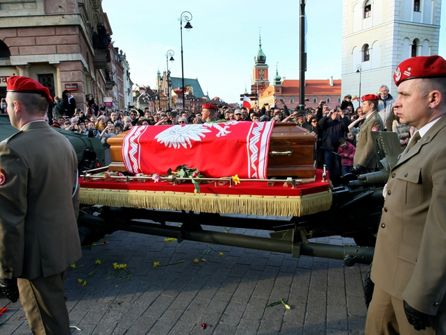 Poland - Lech and Maria Kaczynski were buried at Wawel Castle