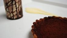 Warm Chocolate Fondant Tart with Milk Chocolate Ice Cream