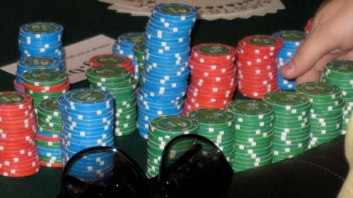 Chips on the table at the Irish Poker Open