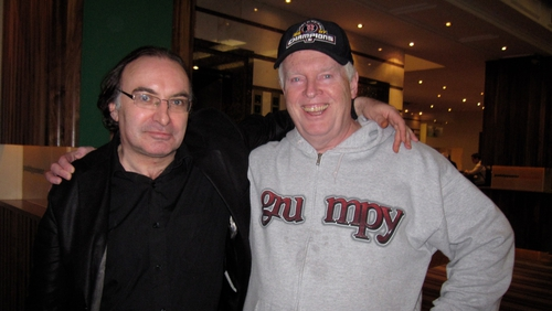 Legendary poker players Padraig Parkinson from Ireland and Dan Harrington from the U.S.