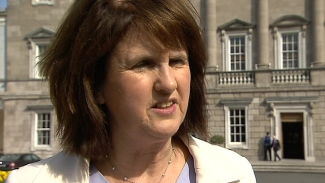 Joan Burton said there were two windows of opportunity to hold the ballot