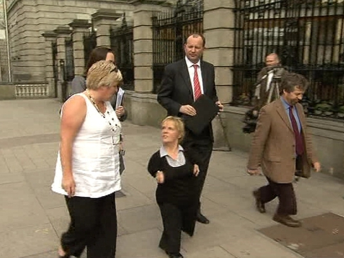 Leinster House - Thalidomide victims met Health Minister Mary Harney
