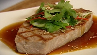 Seared Tuna Steak - A gloriously light and healthy dish with a hint of Asian flavour.