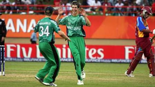 George Dockrell took three wickets for Ireland