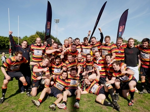 The victorious Lansdowne side in celebratory mood