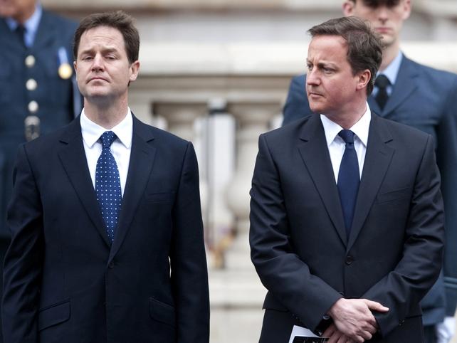 Clegg & Cameron - Talks to resolve hung parliament