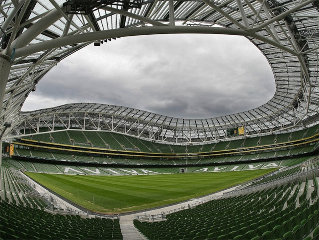 A fan's-eye view of the impressive Aviva Stadium