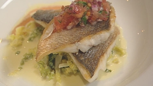 Another delicious dish from Martin Shanahan, Sea Bass with Tomato Salsa.
