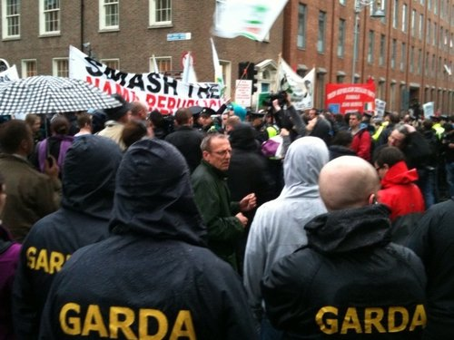 Kildare Street - Right to Work campaign organised protest