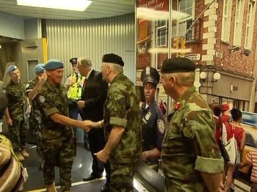 Irish soldiers - Returned to Dublin