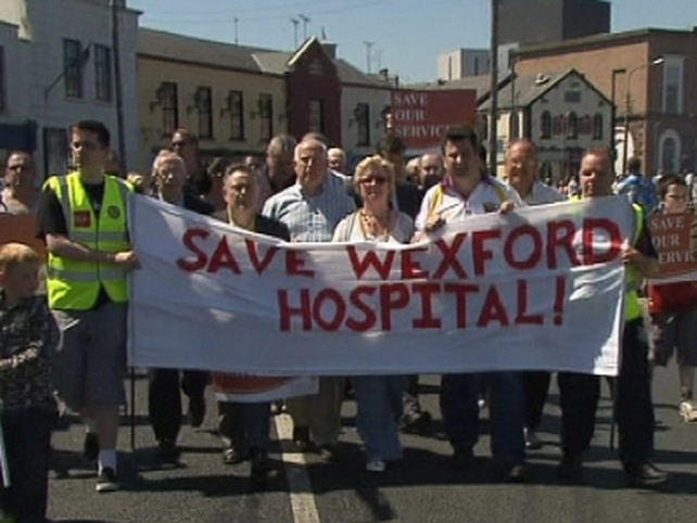Wexford - Protest over plans for hospital