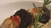 Scallop with Black Pudding - Martin Shanahan serves up a delicious starter.