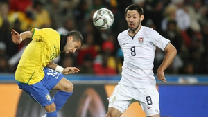 Clint Dempsey in action for the USA in the 2009 Confederations Cup final against Brazil
