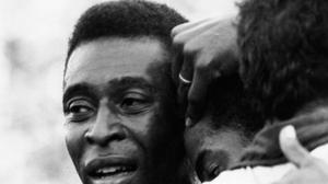 An emotional Pele celebrates the 1970 victory