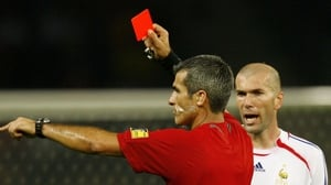 Zidane receives his red card