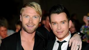 Stephen with Boyzone mate Ronan Keating